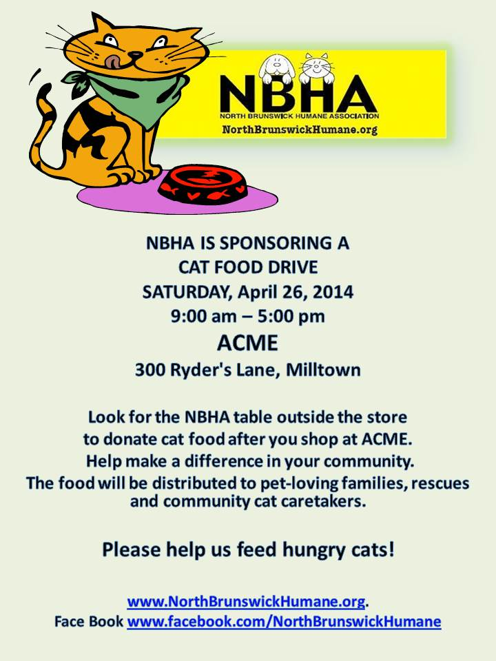 CORRECTED Milltown ACME Cat Food Drive