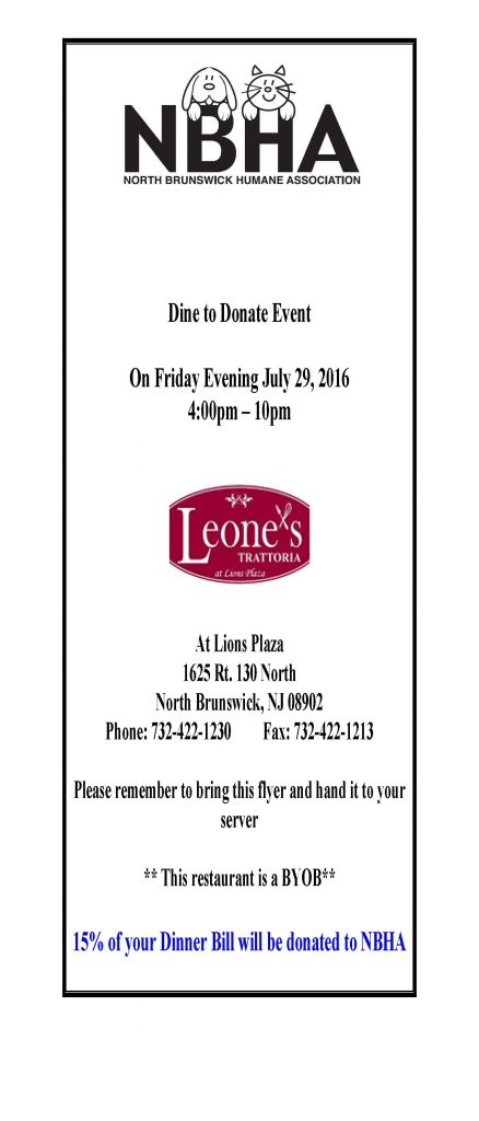 Dine to Donate Event - Leones