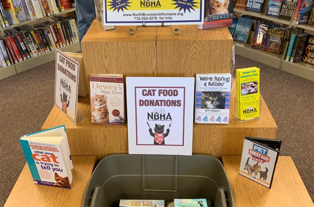 North Brunswick Library Cat Food Drive June 2019